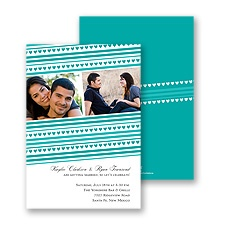 Tiny Hearts Photo Engagement Party Invitation - Peacock