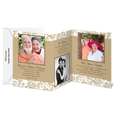 Floral Storyline Photo Anniversary Invitation