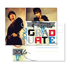 Letter Perfect Photo Graduation Postcard