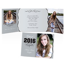 Shades of Grey Photo Graduation Announcement