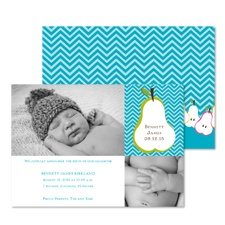 Pretty Pears Photo Baby Announcement - Palm