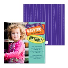 Guess Who Photo Birthday Invitation