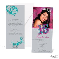 Fanciful Flourishes Photo Quinceanera Invitation