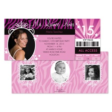 VIP Photo Quinceanera Invitation