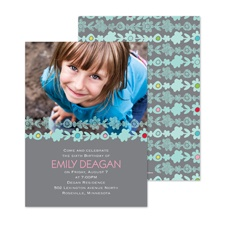 Picking Posies Photo Birthday Invitation