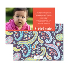 Pretty Paisley Birthday Invitation