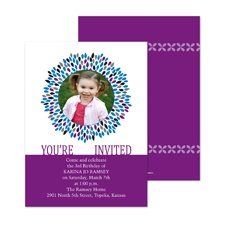 Starburst Frame Photo Birthday Invitation