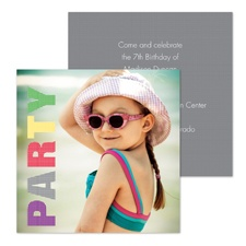Big Party Photo Birthday Invitation