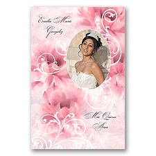 Beautiful Flower Photo Quinceanera Invitation