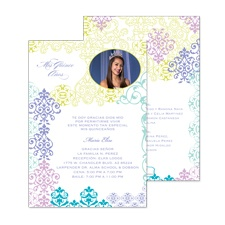Fashionable Ombre Photo Quinceanera Invitation