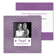 Mini Mosaic Photo Engagement Party Invitation