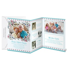 Pretty Flowers Photo Storyline Anniversary Invitation