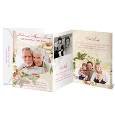 Vintage Roses Photo Storyline Anniversary Invitation