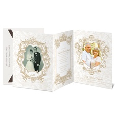 Ornate Elegance Photo Storyline Anniversary Invitation