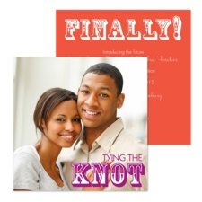 Finally Tying the Knot Photo Engagement Party Invitation