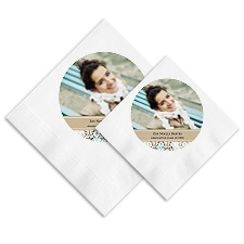 Hip Damask Photo Ooh La Color Napkins