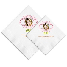 Sweet Flourishes Photo Ooh La Color Napkins