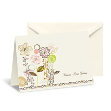 Whimsical Posies Thank You Card