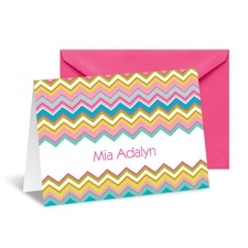 Jazzy Stripes Thank You Card