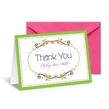 Flower Chain Thank You Card