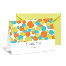 Diva Dots Thank You Card