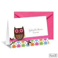 Argyle Owl Thank You Card