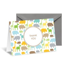 Zoo Time Thank You Card