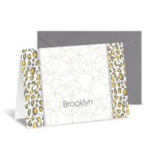 Little Leopard Note Card and Envelope - Pewter