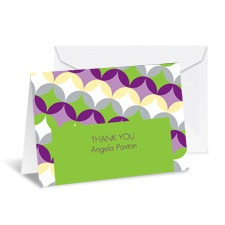 Sweet Geometry Note Card and Envelope - Spring