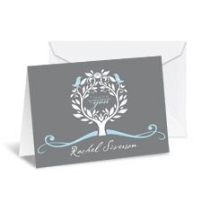 Treetop Note Card and Envelope - Sea