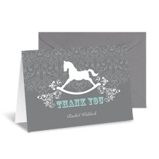 Rocking Horse Thank You Card and Envelope
