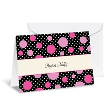 Darling Dots Note Card and Envelope - Fuchsia