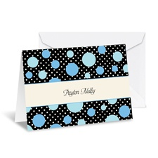 Darling Dots Note Card and Envelope - Cornflower