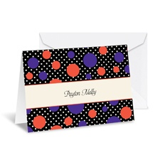 Darling Dots Note Card and Envelope - Tango