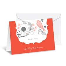 Birdsong Note Card and Envelope - Tango