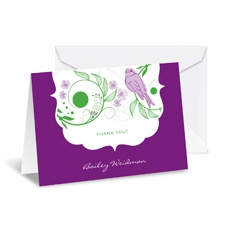 Birdsong Note Card and Envelope - Grapevine