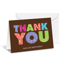 Jungle Thank You Note Card and Envelope