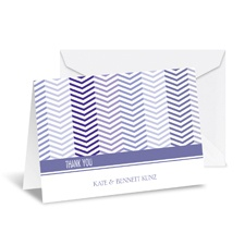 Little Chevron Note Card and Envelope - Lilac