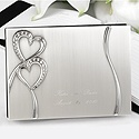 Personalized Sparkling Hearts Guest Book
