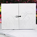 Blank Flourish Gem Guest Book