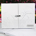 Personalized Flourish Gem Guest Book