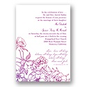 Tender Blossoms - Pink and Purple - Invitation