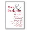 Ampersand - Bright Red Invitation