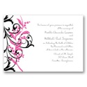 Floral Edge - French Kiss  Invitation