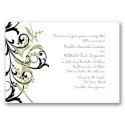 Floral Edge - Kiwi Invitation