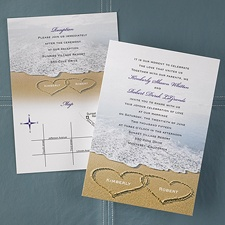 Love on the Beach - Val Style Invitation