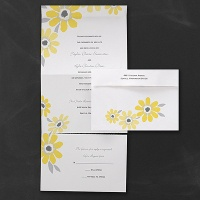 Bright Daisies Self Mailer