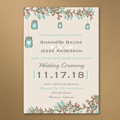 Country charm invitation wedding invitations carlson for Carlson craft invitations discount