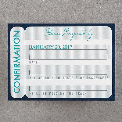 Boarding Pass - Respond Card and Envelope