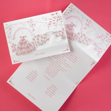 Pink and Green Gardens - Invitation